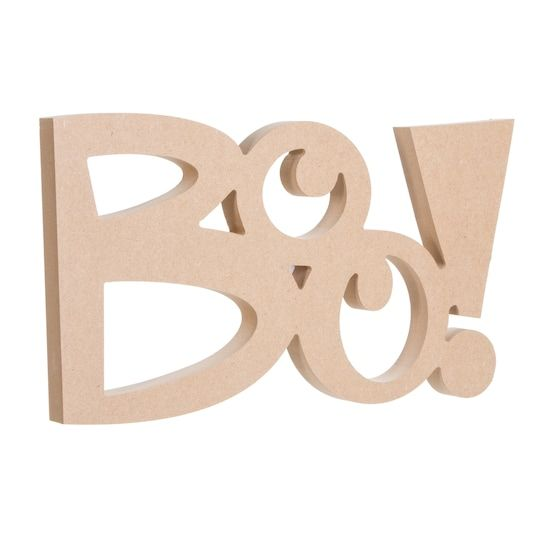 Buy The Darice Unfinished Wood Boo Sign At Michaels Com Diy Halloween Decorations Boo Sign Halloween Decorations