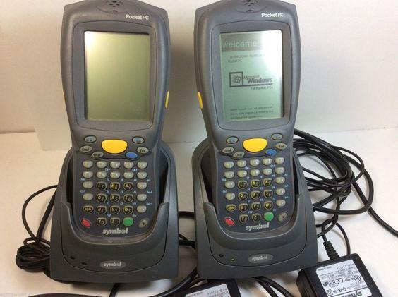 Lot Of 2 Symbol Pdt8100 Pocket Pc Handheld Barcode Scanner Battery