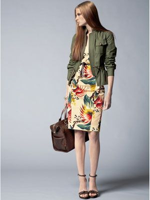 floral and military style