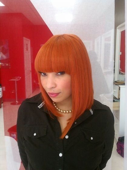 Remarkable Sew In Weave Bob With Bangs And Sew Ins On Pinterest Short Hairstyles Gunalazisus