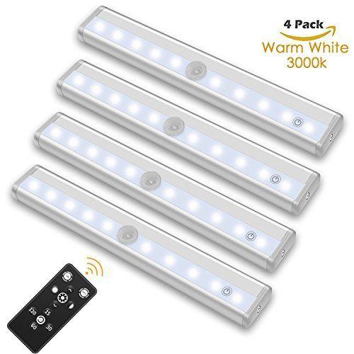Wireless Portable LED Under Cabinet Light SZOKLED Remote Control LED Lights Bar