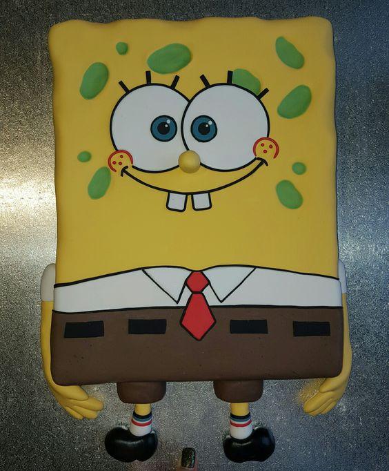 Geburtstag-Kinder » SpongeBob Torte Kuchen
