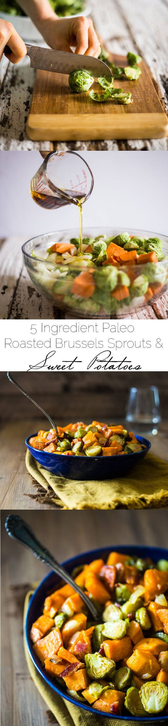 Roasted Brussels Sprouts, Sweet Potatoes and Bacon   Recipe   Brussels ...