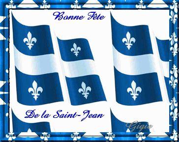 Fonds animés Fête Nationale Quebec !