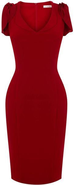 Karen Millen ~ 40s Draped Crepe Dress