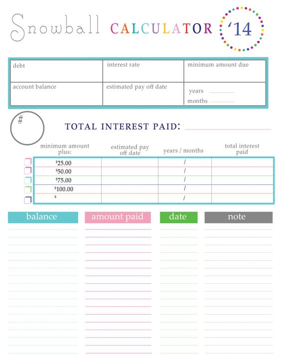 28 Snowball Budget Spreadsheet Debt Worksheet