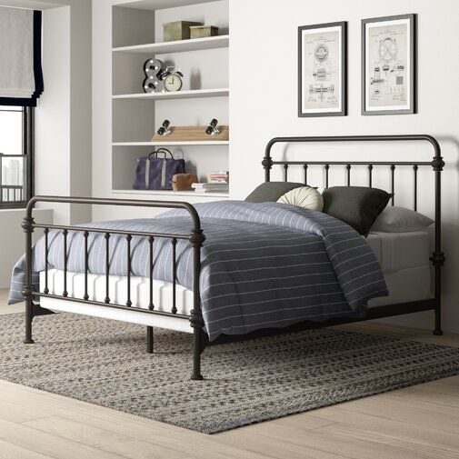Cavaillon Standard Bed Panel Bed Iron Bed