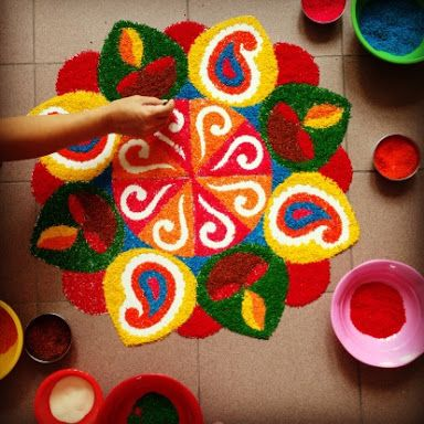 Pongal special rangoli pinterest for Door design rangoli