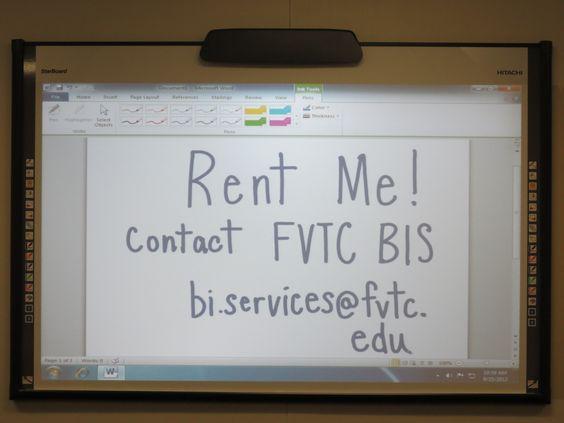 3 smartboard rooms available for rent at FVTC's D.J. Bordini Center, Appleton, WI!