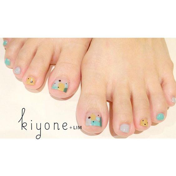 #kiyonelim #nail #nailart #pedicure #gelnails #singapore #natsuminail #ネイル #フットネイル