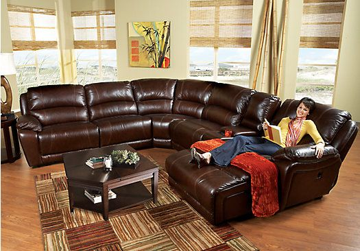 Shop For A Cindy Crawford Home Wellington Avenue Walnut 8 Pc Sectional  LivingRoom Plus HDTV At Rooms To Go. Find Sectionals That Will Look Great  Inu2026