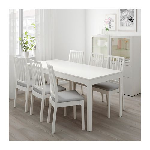 Ekedalen Extendable Table White Min Length 47 1 4 Ikea Small Kitchen Tables Ikea Dining Small Room Design