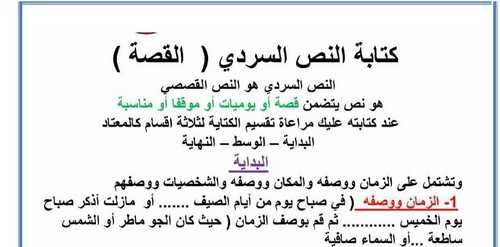 كتابة النص السردي القصة لغة عربية للصف السادس الفصل الأول Https Emarat Education Blogspot Com 2018 11 Arabic Grade 6 Ae 23 H Math Math Equations Education