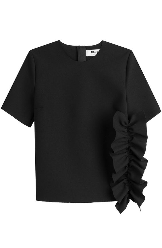 MSGM Top With Ruffles. #msgm #cloth #shortsleeve