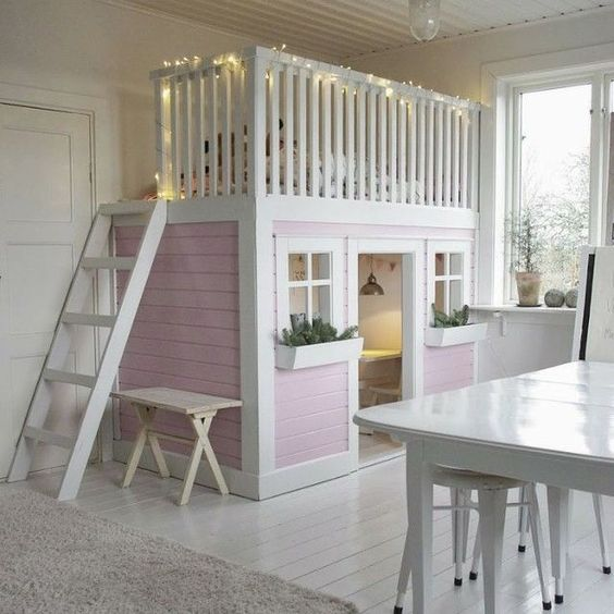 Best Loft Bed With Pink Play House Cool Baby Kid T**N Rooms 640 x 480