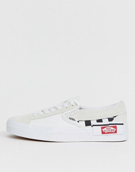Vans Slip-On Cap laces white sneakers