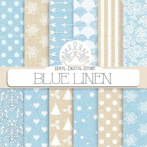 "Linen Digital Paper: "" Blue Linen"" with blue linen background, linen texture in blue, beige for scrapbooking, cards , invitations #download #wood"