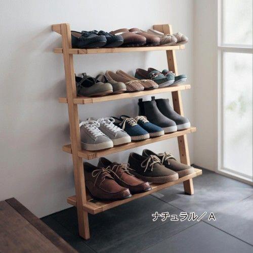 6月5日まで大型商品送料無料 パイン材の立て掛けるシューズラック belle maison days 通販のベルメゾンネット shoestorage muebles para guardar zapatos muebles para libros muebles para zapatos