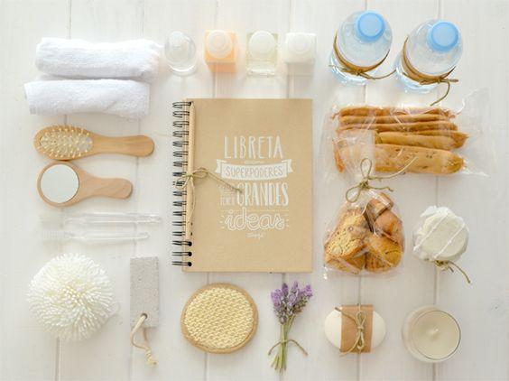 Welcome basket for the guest room - Cesta de bienvenida para la habitación de invitados
