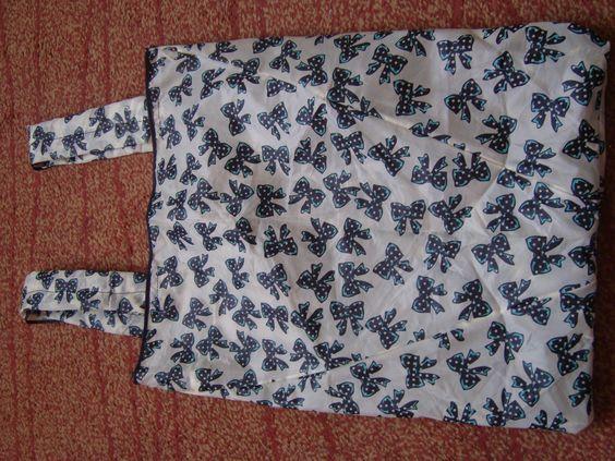 Bolsa para la compra con tela reciclada de un paragüas