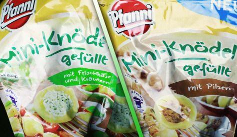 Pfanni Mini-Knödel gefüllt mit Pilzen oder Frischkäse und Kräutern