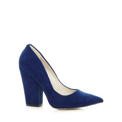 Faith Navy suedette block heel shoes- at Debenhams.com | ZAPATOS ...