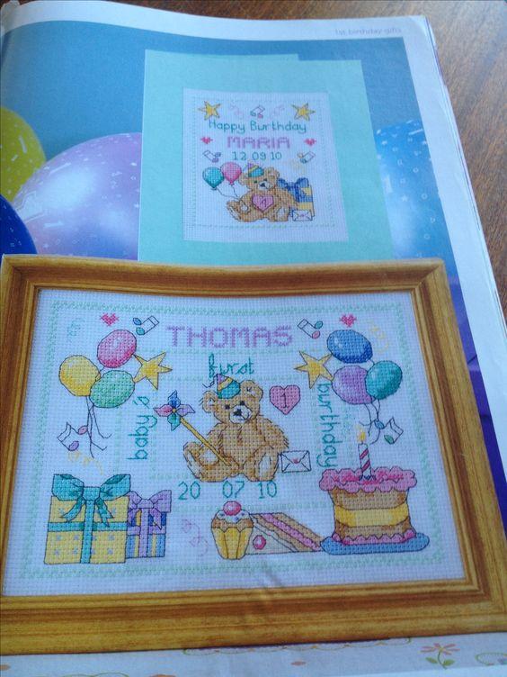 Baby's 1st Birthday by Joanne Sanderson Cross Stitch Favourites Teddy Bear Collection  Hardcopy