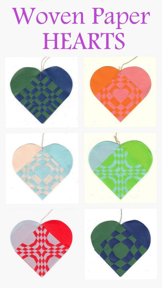 How To Make A Woven Heart Basket : Woven paper hearts valentines heart