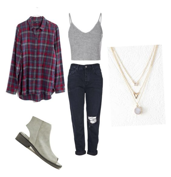"""""""Untitled #10"""" by samanthagilm on Polyvore featuring Forever 21, Topshop, Glamorous and Madewell"""