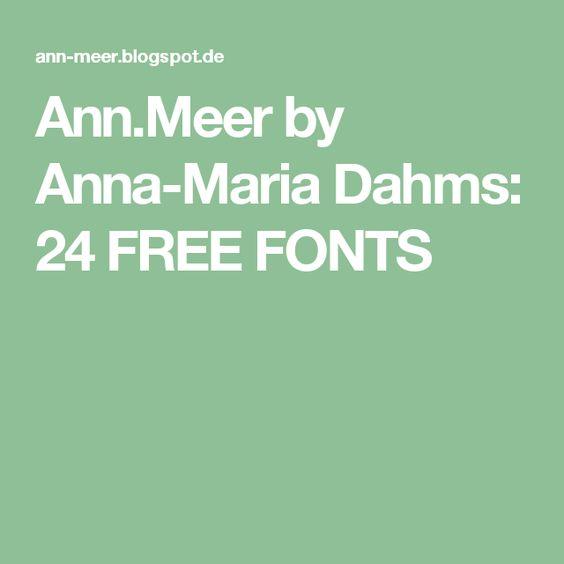 Ann.Meer by Anna-Maria Dahms: 24 FREE FONTS