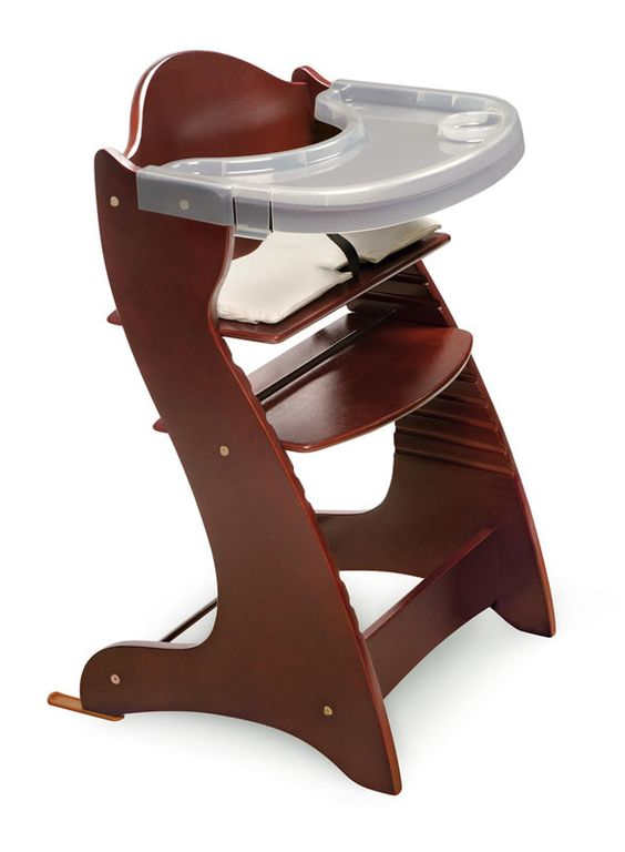 Badger Basket 00934 Embassy™ Adjustable Wood High Chair - Cherry
