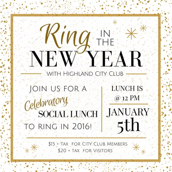New Years Social Lunch