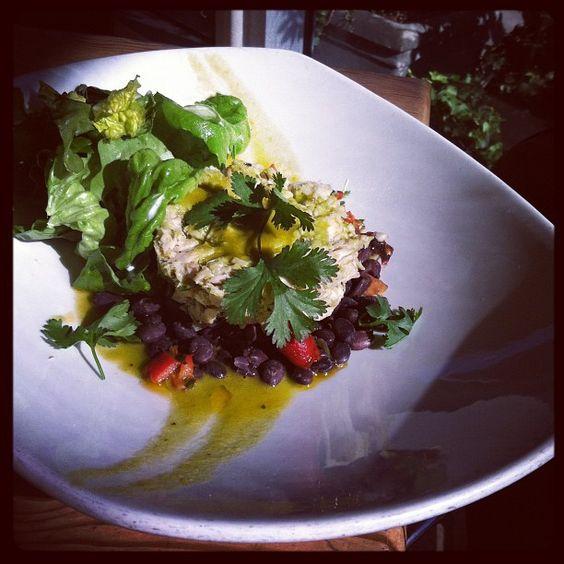 Tuna conserva black beans spicy cilantro # tgfood #weho food #food porn