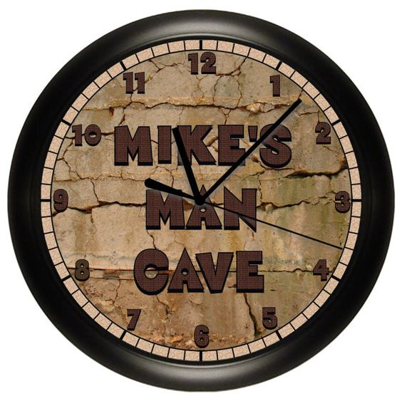 Personalized Man Cave Wall Clock Game Room By Cabgodfrey