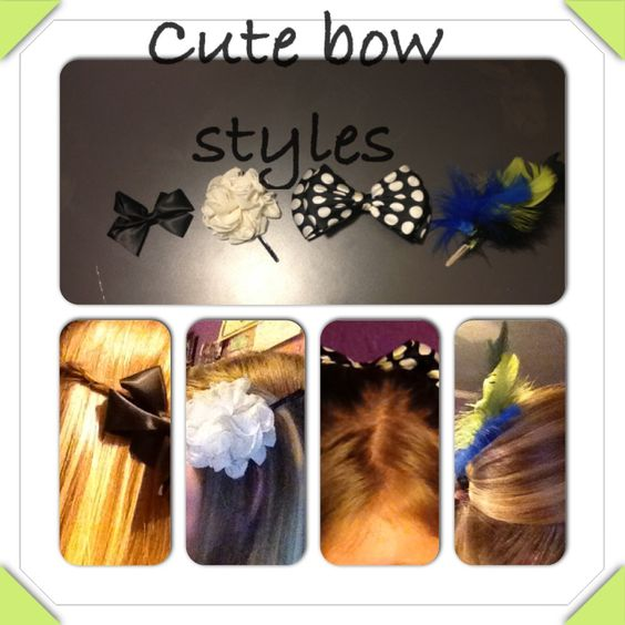Quick & easy cute bow styles for long hair
