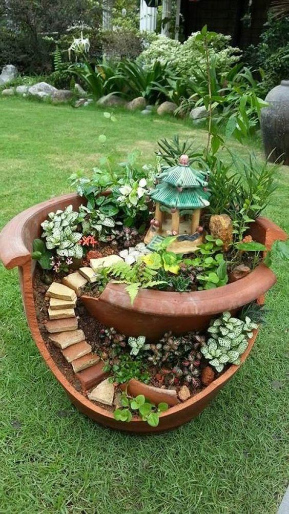 30 erstaunliche DIY-Ideen für die Dekoration Ihres Gartens einzigartig – Diy Projekt