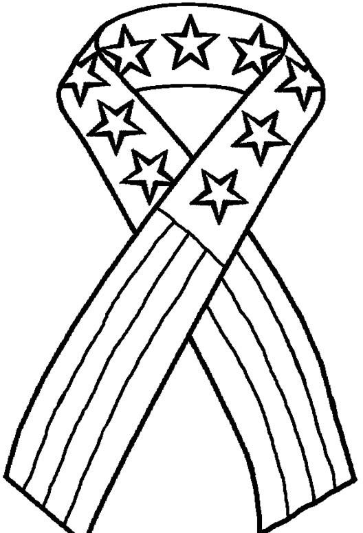 4th Of July Coloring Page 4th Of July Patriotic Ribbon All