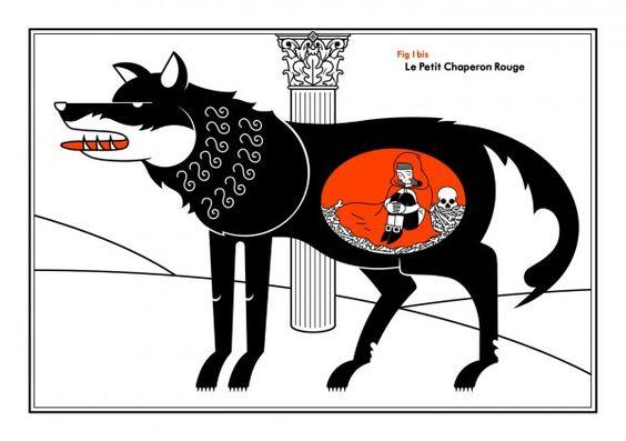 #lepetitchaperonrouge #Honet #print #limitededition # illustration #sergeantpaper #sérigraphies Serigraphie 2 couleurs sur papier Edition limitée à 13 ex - 2nd edition 35x50cm - numérotée et signée