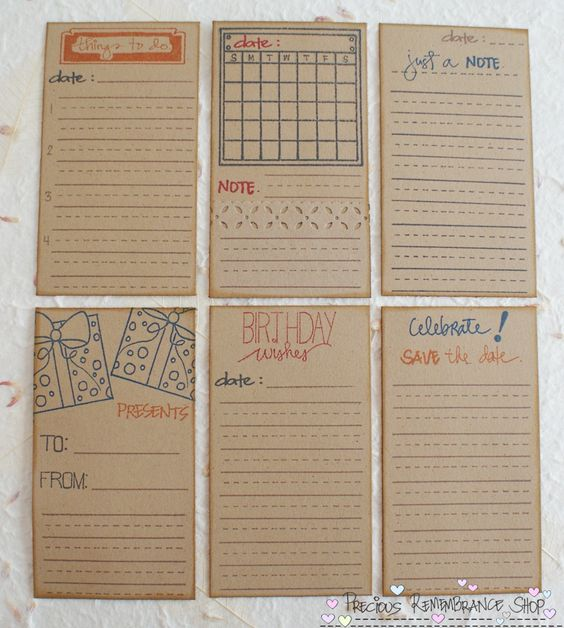journal cards | Journaling Cards/Tags For: { Greeting Cards, Mini Albums, Gift Bags ...