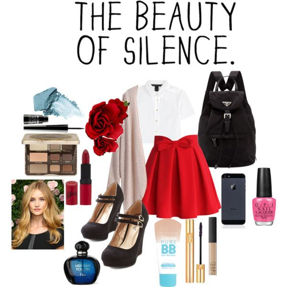 Quiet Girl - Restyled! by gianna-is-katniss on Polyvore featuring polyvore fashion style MARC BY MARC JACOBS Chicwish Prada Accessorize Too Faced Cosmetics Yves Saint Laurent NARS Cosmetics Stila Lord & Berry Rimmel Maybelline OPI