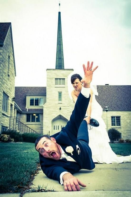 As 10 fotos de casamento mais divertidas