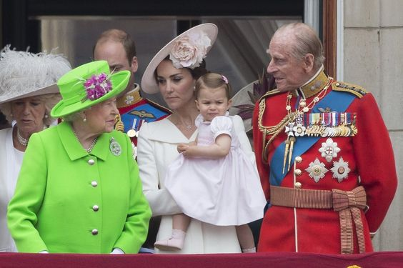 Princess Charlotte Makes Her Buckingham Palace Balcony Debut During the Queen's Birthday Celebration: