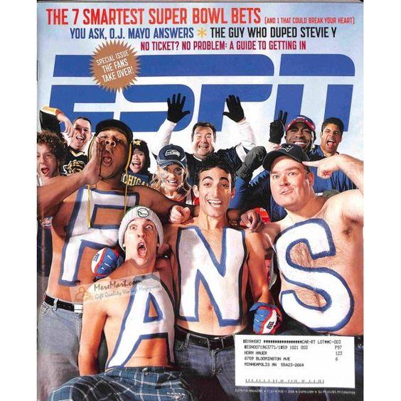 Cover Print of ESPN, February 11 2008   $6.60