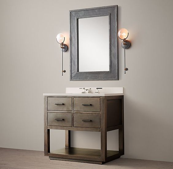 La Salle Metal-Wrapped Single Washstand