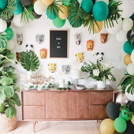 Thème jungle pour baby shower