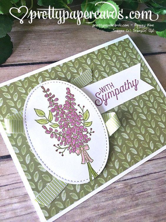 Sweet Lavender Sympathy Card Sympathy Cards Handmade Stampin