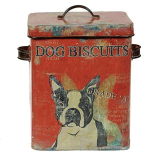 dog biscuits tin - boston terrier