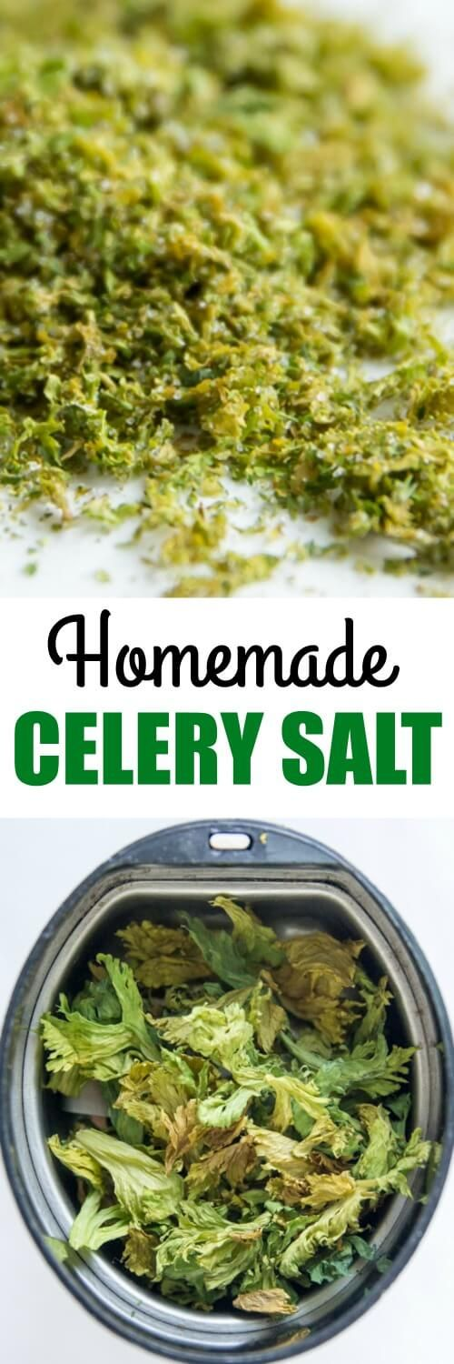 your leftover celery leaves to work in this EASY Homemade Celery Salt ...