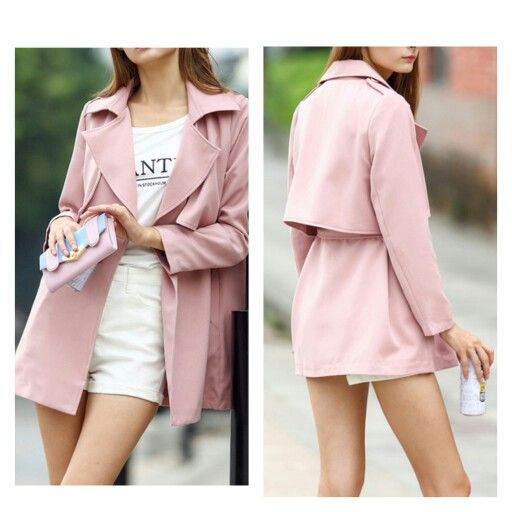 Look stylish in this pink #lapeled #trenchcoat from #namnamfashions for INR 3800 only. Delivery in 2 weeks.  Product code: NNOT058