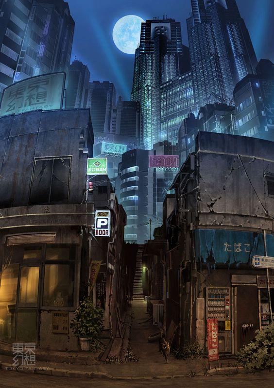 Ilustraciones de Japón post-apocalíptico